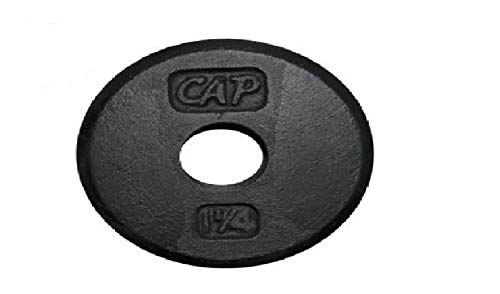 1.25-Pound Standard Free Weight Plate, 1-inch bars in Black, Set of 4