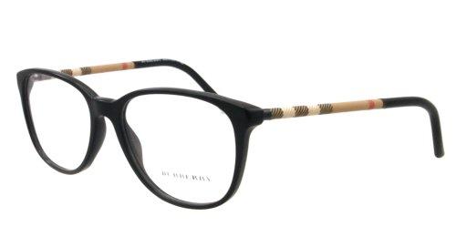 Amazon.com: Burberry Eyeglasses BE 2112 BLACK 3001 BE2112 50 ...
