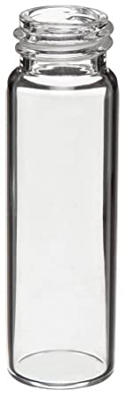 Kimble 74502-7 Borosilicate Glass 7mL Solvent Saver Vial, with Closure Packed Separately (Case of 1000)