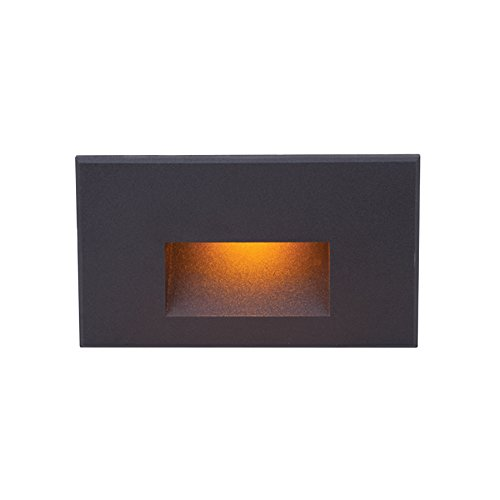 LEDme Horizontal Amber Step and Wall Light in Black