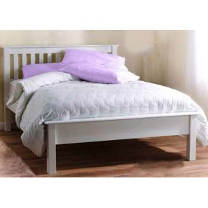 92487b2f0605 Paul Maxfield Shaker 4FT Solid Wood Small Double Bedstead - Low Footend -  White: Amazon.co.uk: Kitchen & Home
