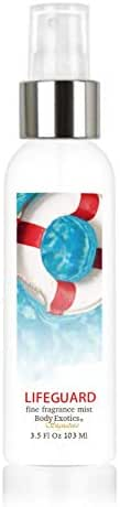 Lifeguard Perfume Fine Fragrance Body Mist Body Exotics 3.5 Fl Oz ~ It's Just Another Day at Work with Warm Sand, Sea Salt, Driftwood, Sand Jasmine, Citrus & Exotic Coconut