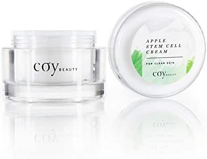 Apple Stem Cell Cream Moisturizer with Natural Extracts for Clear Skin, Unscented - by Coy Beauty