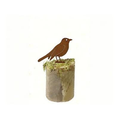 California Home and Garden CH540 Metal Robin Rusty Bird Silhouette, Rustic Look Artwork, 5 Inch Tall, Brownish Red : Garden & Outdoor