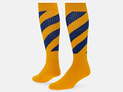 Red Lion Tornado Athletic Knee High Soft Sock ( Gold / Royal Blue - Large - Tornado Socks Royal