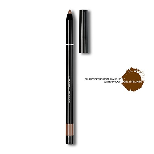 DLUX PROFESSIONAL EYELASH GEL LINER/Eyeliner/The best NO.1 brand in the world/Gel Type/Pencil Eyeliner/Easy to Control/Drew line/Made in Korea (Dark Chocolate Brown)