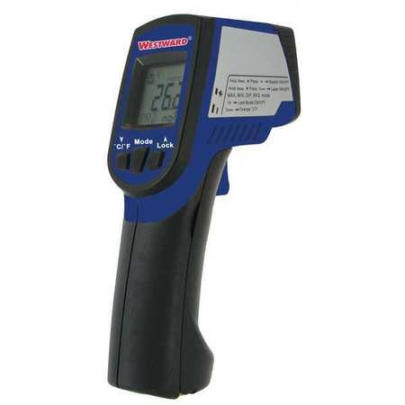 Westward 6AUD3 Infrared Thermometer, 12 to 1, -58 to 952F