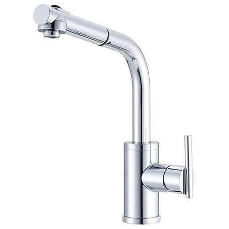 Danze D404558 Parma Single Handle Pull Out Kitchen Faucet, Chrome