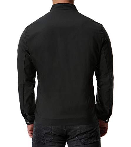 Giacca Zip Dimensioni Nero Più Colori Rkbaoye Pura Maschile Moto Autunno Rilassata Motociclista Eqx5OO