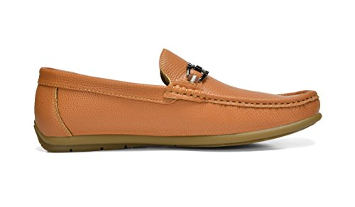 Bruno Marc Men's BENNETH-01 Tan Driving Loafers Moccasins Shoes – 7 M US