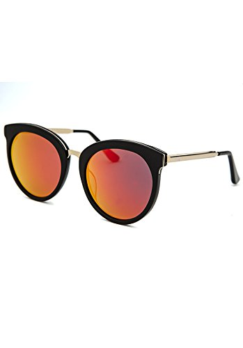 Amazon.com: AQS Womens Poppy angular anteojos de sol, Negro ...