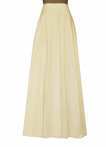 E K Women's long taffeta skirt Maxi evening formal cocktail ball floor length-S-champ und (Skirt Taffeta Long)