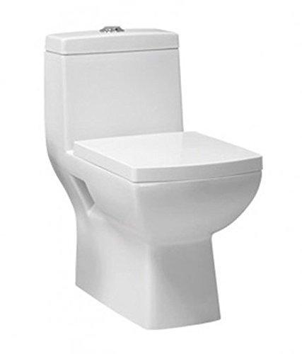 Delightful Belmonte One Piece Water Closet Square S Trap   White: Amazon.in: Home  Improvement