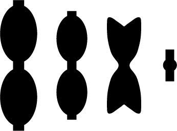 graphic regarding Free Printable Hair Bow Templates known as Plastic Hair Bow Template sizing 2.5\