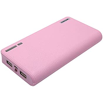 YTech 20000mAh Portable Charger and External Battery Power Bank with Smart LED Digital Display for iPhone7 Plus 6s 6 Plus, iPad, Samsung Galaxy and More (pink)
