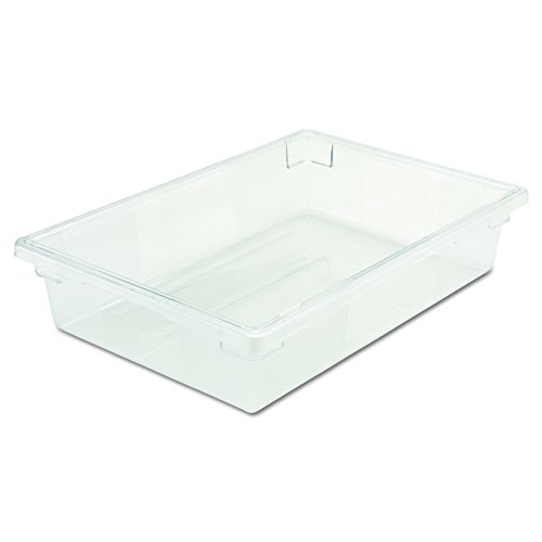 (Rubbermaid Commercial 3308CLE Food/Tote Boxes, 8 1/2 gal, 26 w x 18 d x 6 h, Clear)