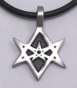 Amazon unicursal hexagram 6 pointed star pewter pendant choker unicursal hexagram 6 pointed star pewter pendant choker necklace mozeypictures Images