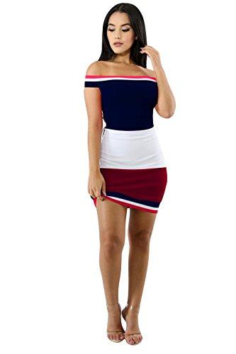 Didala Sexy Des Femmes De Couleur A Frappé Sans Bretelles Lambrissé Paquet Forme Mince Hanche Moulante Robe Blanche Boîte De Nuit Clubwear