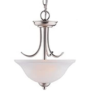 Boston Harbor A2242-3 5580501 Dimmable Pendant Light, 2 60 13 W, Medium Lamp, 15-1 2 in H X 12 in W, Chain, Brushed Nickel, Wide x 15-1 2 High