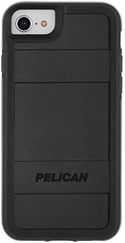 【Pelican × Case-Mate】 MIL-810G検査クリア スマホケース iPhone SE(第二世代/2020年発売) / 8 / 7 / 6s / 6 ハード ケース カバー [2層構造・スリム・ワイヤレス充電対応] シンプル 頑丈 ペリカン Protector - Black