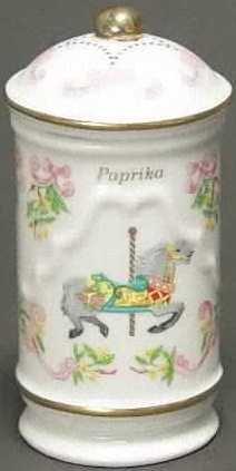 Lenox Porcelain Carousel Spice Jar - Paprika