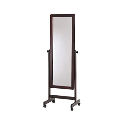 Amazon.com: Rolling Floor Mirror, Cheval Standing Mirrors, Tilting ...