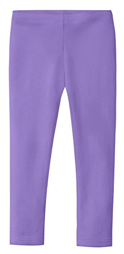 City Threads Girls' Leggings 100% Cotton for School Uniform Sports Coverage or Play Perfect for Sensitive Skin or SPD Sensory Friendly Clothing, Medium Purple, -