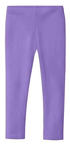 City Threads Girls' Leggings 100% Cotton School Uniform Sports Coverage Play Perfect Sensitive Skin SPD Sensory Friendly Clothing, Medium Purple, 18/24 mo.