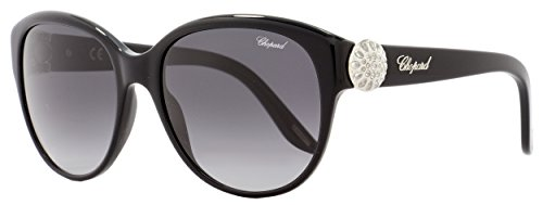 Chopard - SCH185S, Cat Eye, acetate, women, BLACK/GREY SHADED(0700 F), 55/18/135 ()