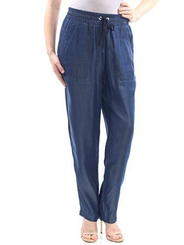 - DKNY $89 Womens New 1825 Blue Pocketed Drawstring Straight Leg Pants M B+B