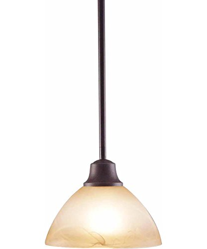 Volume Lighting V2671-53 Altamonte 1 Light Frontier Iron Mini-Pendant ()