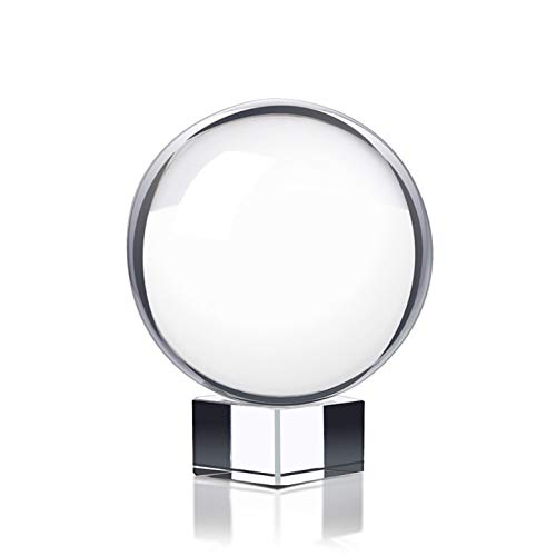 Photography Crystal Ball with Stand and Microfiber Pouch