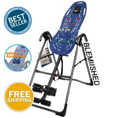 Teeter EP 560 Inversion Table With Back Pain Relief, Blue/Titanium  (Refurbished