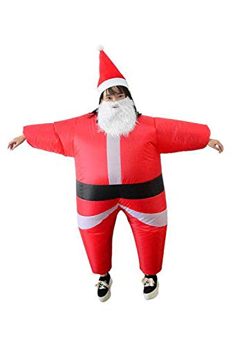 Wecloth Christmas Inflatable Costume Santa Claus Suit Jumpsuit Blow Up Suit (Child) -