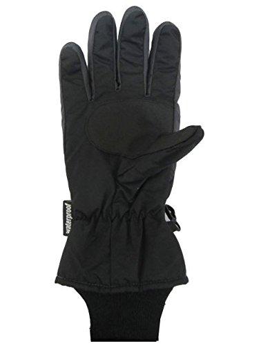 スキーグローブキッズジュニア子供スキー手袋男の子防水スノーグローブブラック-黒7-8才(17cm)