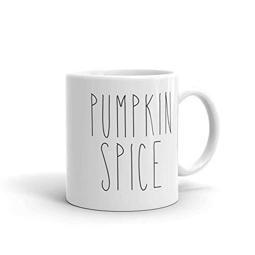 Pumpkin Spice Coffee Tea Mug Cup Farmhouse Kitchen Decor Fall Autumn Halloween Thanksgiving