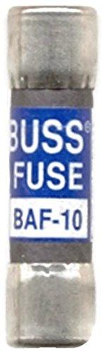- Bussmann BAF-10, 10 Amp 250V Fast Acting Midget Fuse