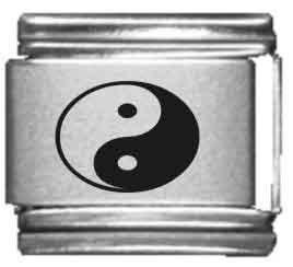 Yin Yang Laser Italian Charm