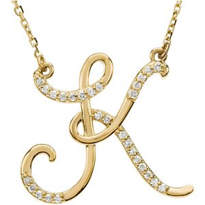Diamond Letter B Necklace