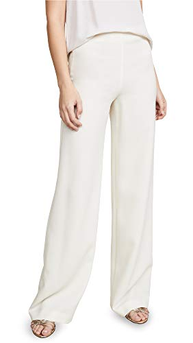 Theory Women's Clean Wide Leg Pants, Rice, Off White, 4