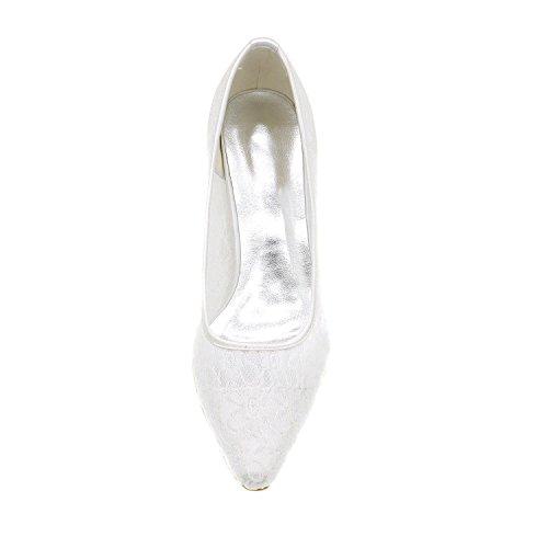 L@YC Zapatos De Boda Para Mujer / Puntos De Encaje Toe apartment Evening Wedding / Party & Multi-Color Large Size Blue