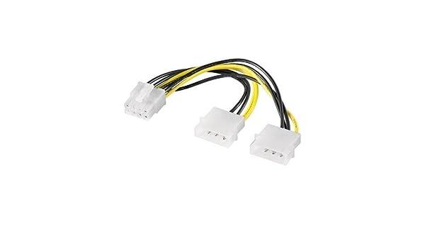 Cable de alimentacion para Tarjeta Grafica PCI-E 8 Pin 0.15 Metros ...