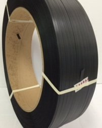 1/2'' 9.000 Ft Polypropylene Strapping, 300lb Tensile Strength, Black, 16x6 by S&G Strapping