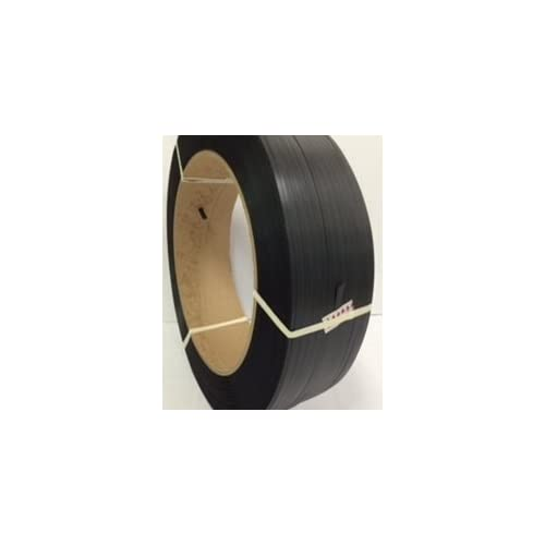 "1/2"" 7,200 Ft Polypropylene Strapping, 500lb Tensile Strength, Black, 16x6"