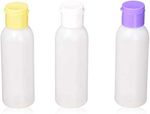 c0d45de61c7c MoYo Natural Labs 2 oz Travel Bottle, TSA Approved Empty Travel Containers  with Multi Color Flip Caps, BPA Free HDPE Plastic Squeezable ...
