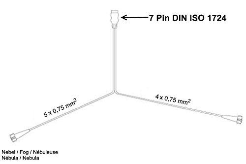 FKAnh/ängerteile Asp/öck Multipoint 5/Leuchten Set 7polig 5/m Kabelbaum/ /Anh/ängerbeleuchtung