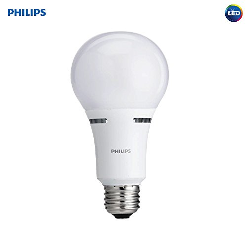 Philips LED 3-Way A21 Frosted Light Bulb: 1600-800-450-Lumen, 2700-Kelvin, 18-8-5-Watt (100-60-40-Watt Equivalent), E26D Base, Warm White, 1-Pack