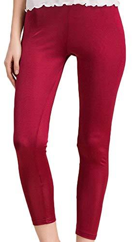 Hx Da Slim Leggings Elastica Pantaloni Vita In Allenamento Unita Burgunderrot Donna Sportivi Tinta Elasticizzata Chic Ragazza Fashion Fit ng8xRrn