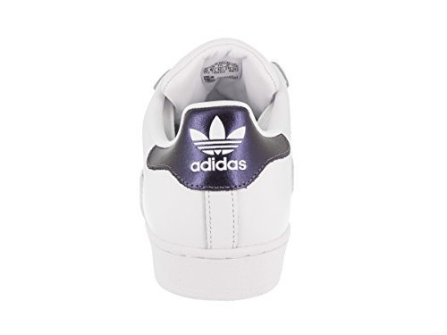 Adidas Originals Women's Superstar W Sneaker, White/Purple Night/White, 7.5 M US