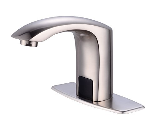 Gangang Touch Free Automatic Sensor Tap Sink Hot Cold Mixer Faucet by Automatic Faucet in Nickel - Infrared Faucet Sensor
